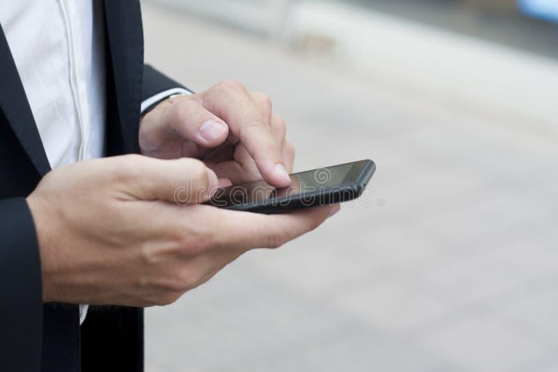 电话聪明使用 免版税库存图片