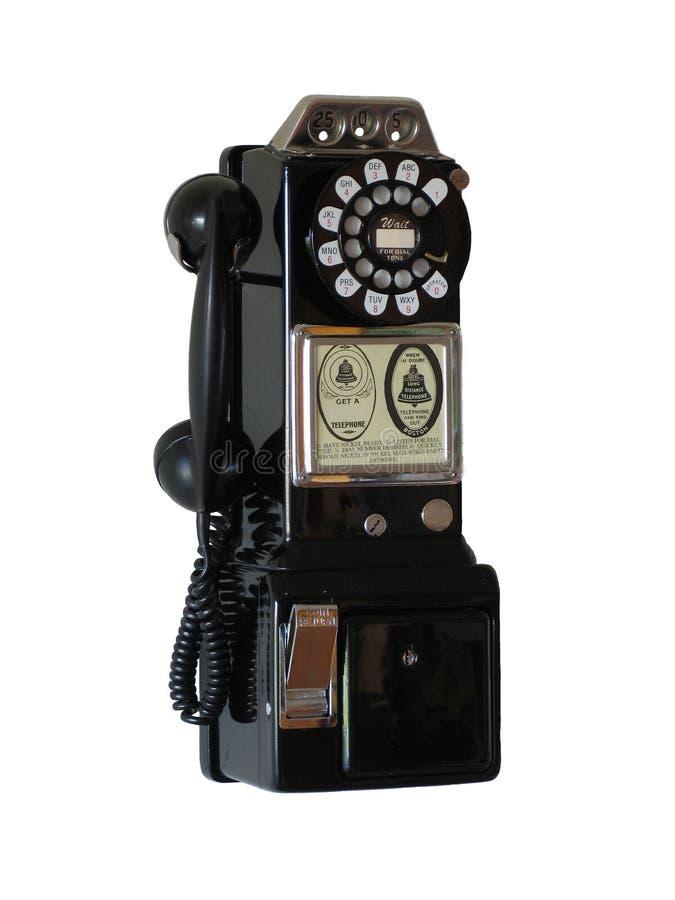 电话葡萄酒 库存照片