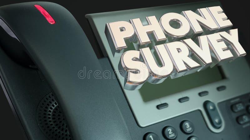 电话调查要求回答问题民意测验反应 向量例证