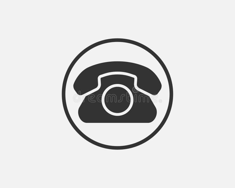 电话象传染媒介例证 电话中心应用程序 电话象时髦平的样式 库存例证