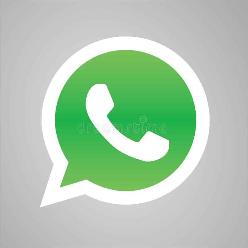 电话象传染媒介,whatsapp商标标志 电话图表,在白色背景隔绝的平的传染媒介标志 简单的传染媒介illustr 向量例证