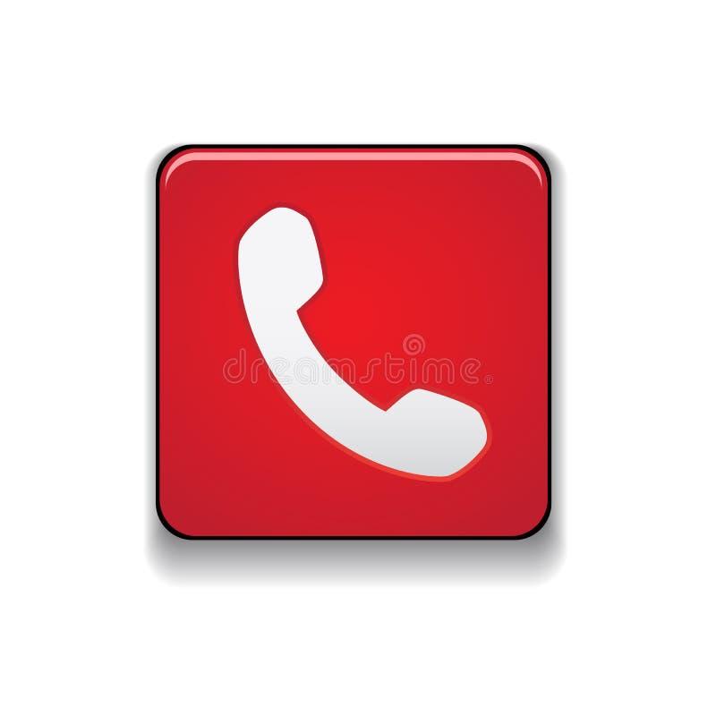 电话象按钮传染媒介 向量例证