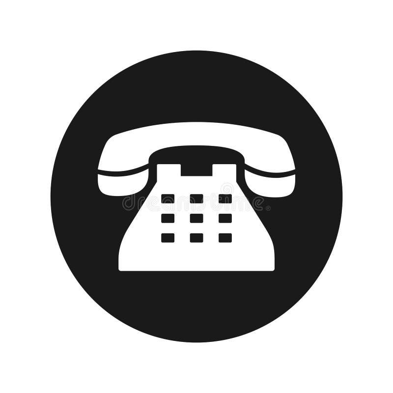 电话象浅黑圆的按钮传染媒介例证 向量例证
