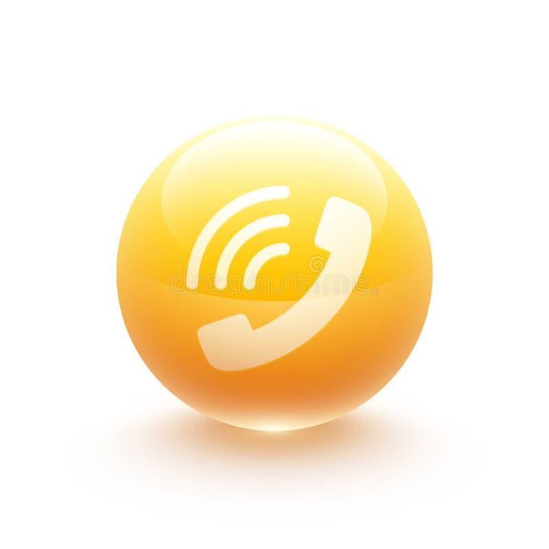 电话象球形 库存例证