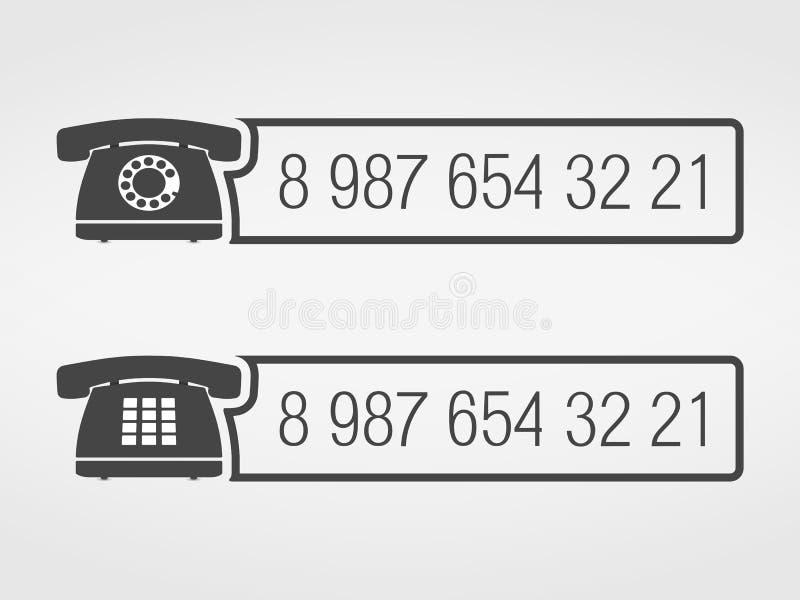 电话象 库存例证