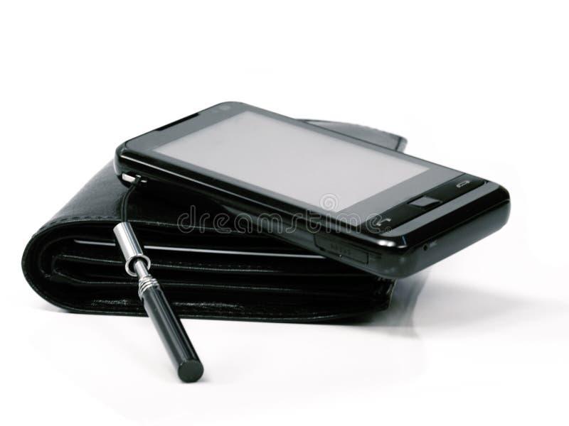 电话钱包 库存照片