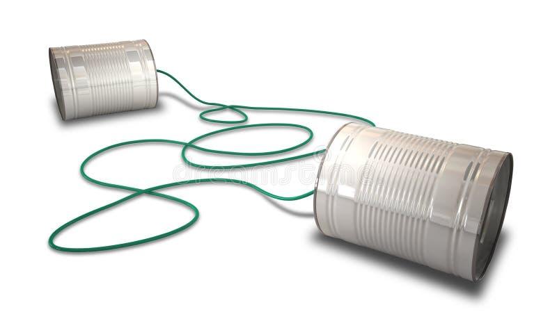 电话锡 免版税库存照片