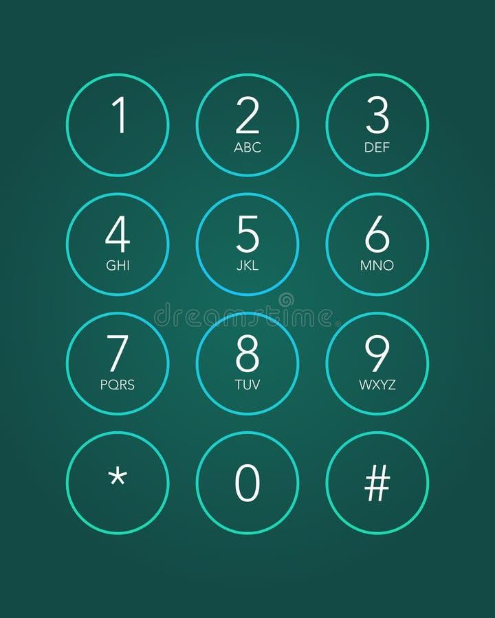 电话键盘 库存例证