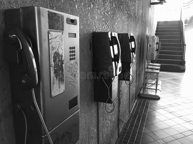 电话BW 免版税图库摄影