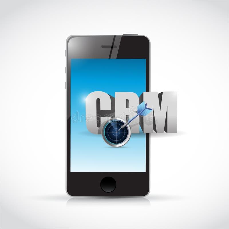 电话crm消息例证设计 库存例证