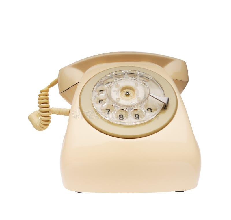 电话veige葡萄酒 库存照片