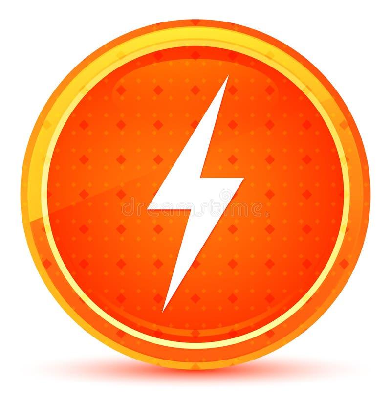 电象自然橙色圆的按钮 向量例证