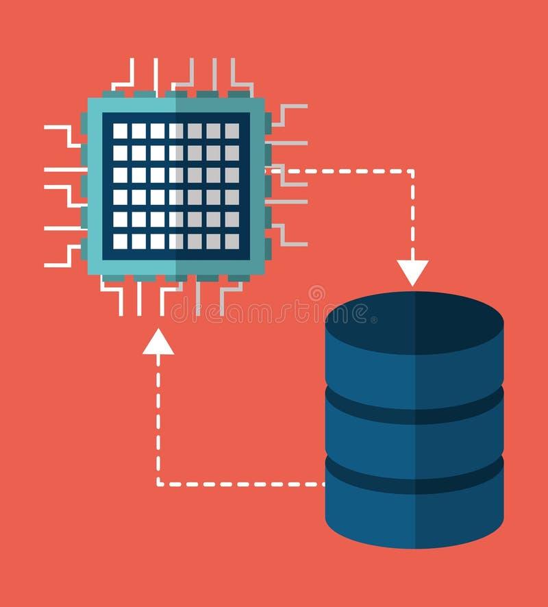 电路板数据中心网络主持 背景装饰图象风格化漩涡向量挥动 向量例证