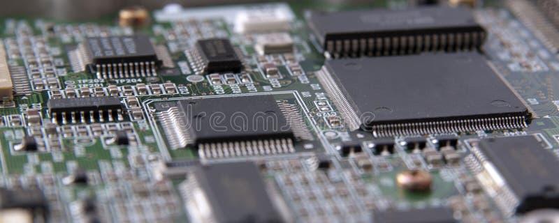 电路电子微芯片 免版税库存图片