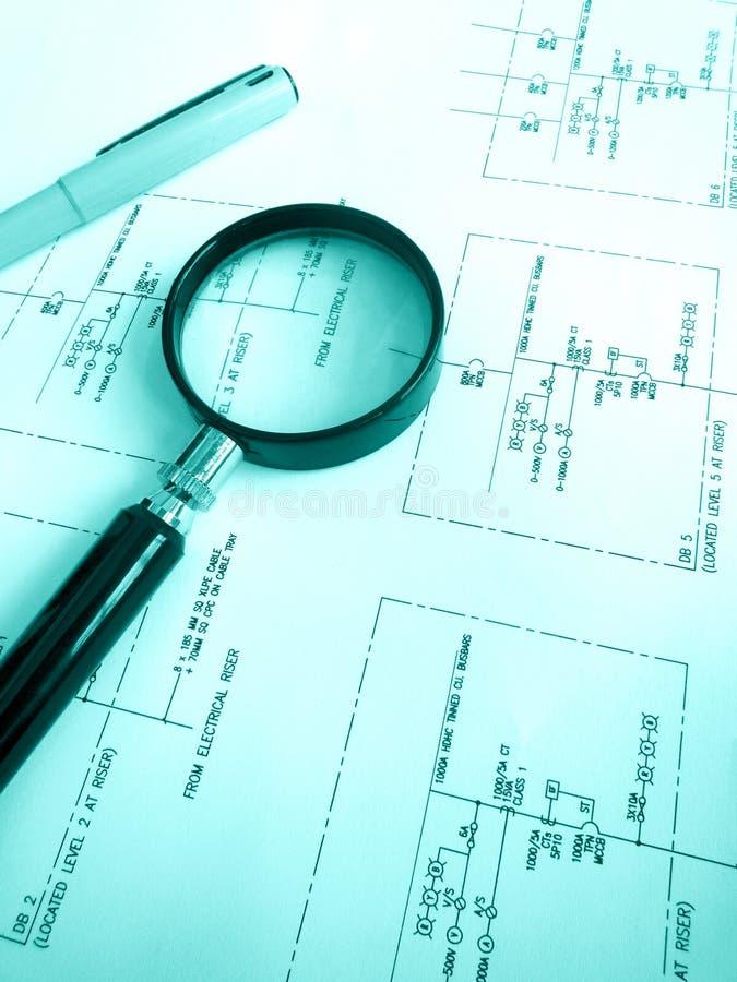 电路电机工程计划 库存图片