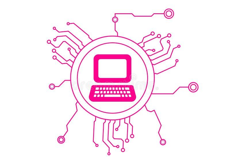 电路计算机图标 向量例证