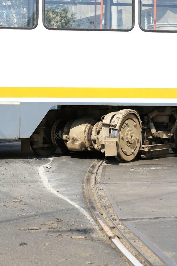 电车事故 库存照片