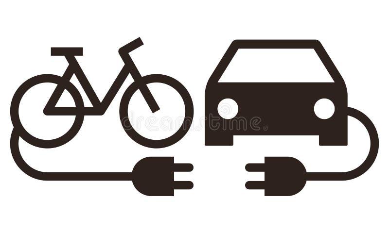 电车和电自行车象 皇族释放例证