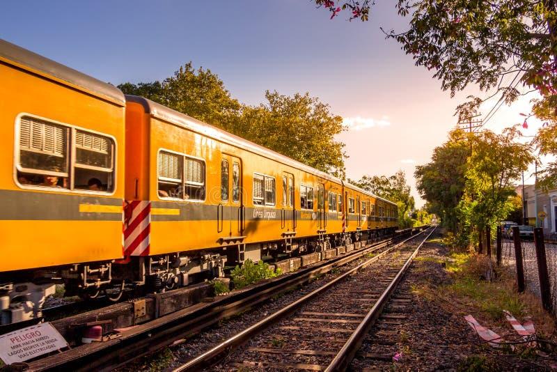 电车在布宜诺斯艾利斯,阿根廷 免版税库存图片