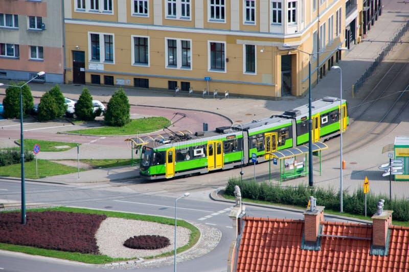电车在Elblag市 图库摄影
