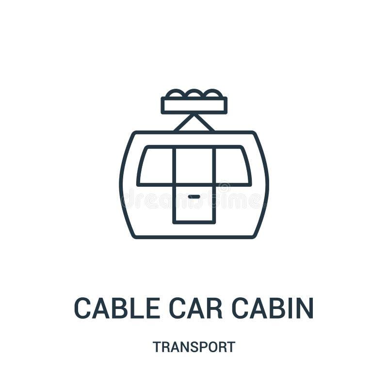 电车客舱从运输汇集的象传染媒介 稀薄的线电车客舱概述象传染媒介例证 向量例证