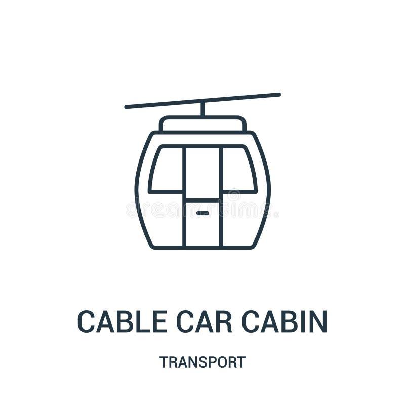 电车客舱从运输汇集的象传染媒介 稀薄的线电车客舱概述象传染媒介例证 皇族释放例证