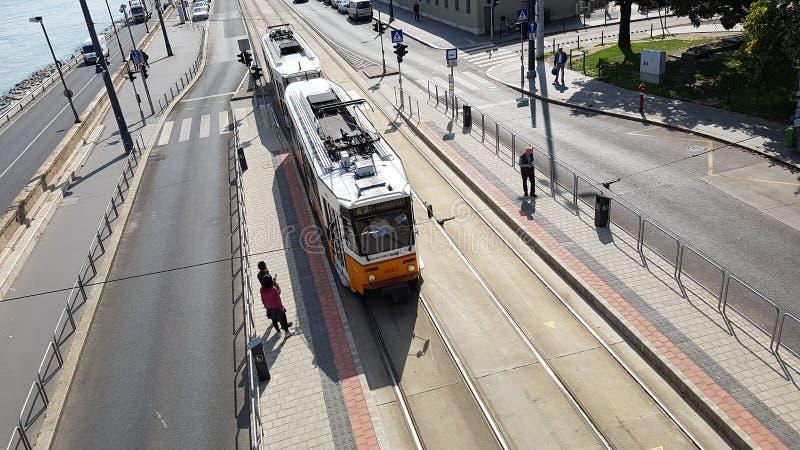 电车布达佩斯 免版税库存照片