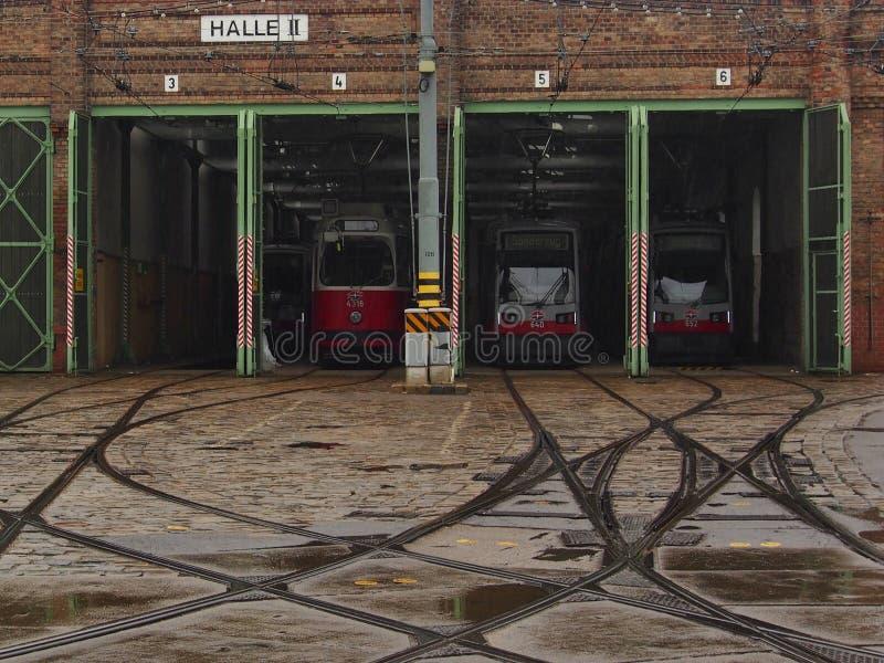 电车集中处在维恩 免版税图库摄影