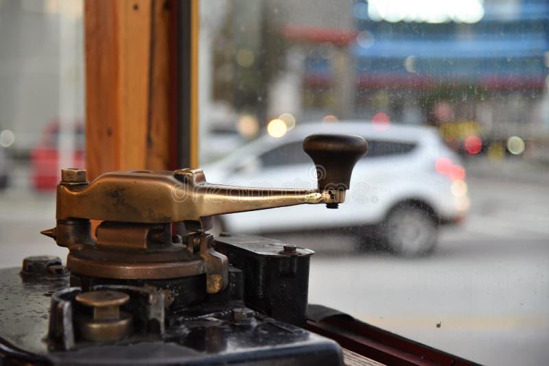 电车马达杆臂 图库摄影