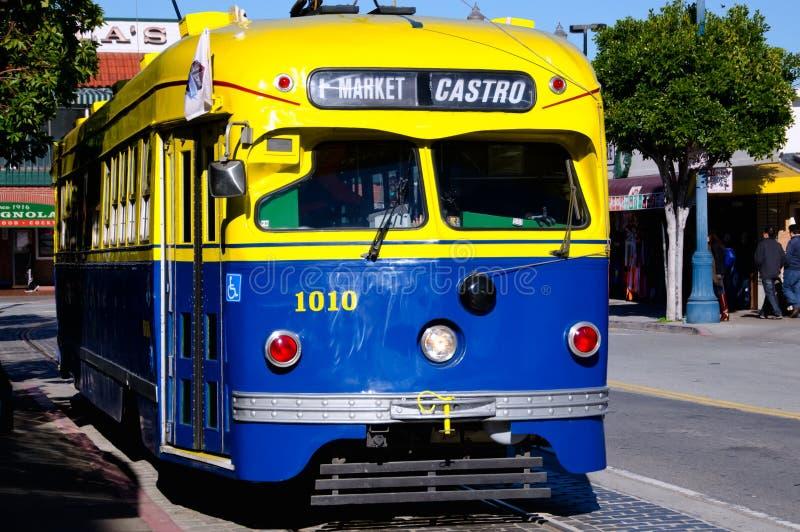 电车,旧金山 库存照片
