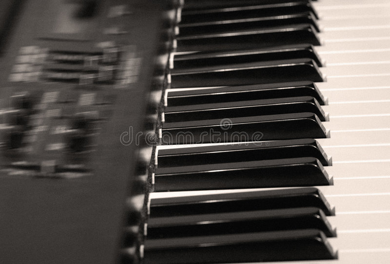 电钢琴 库存图片