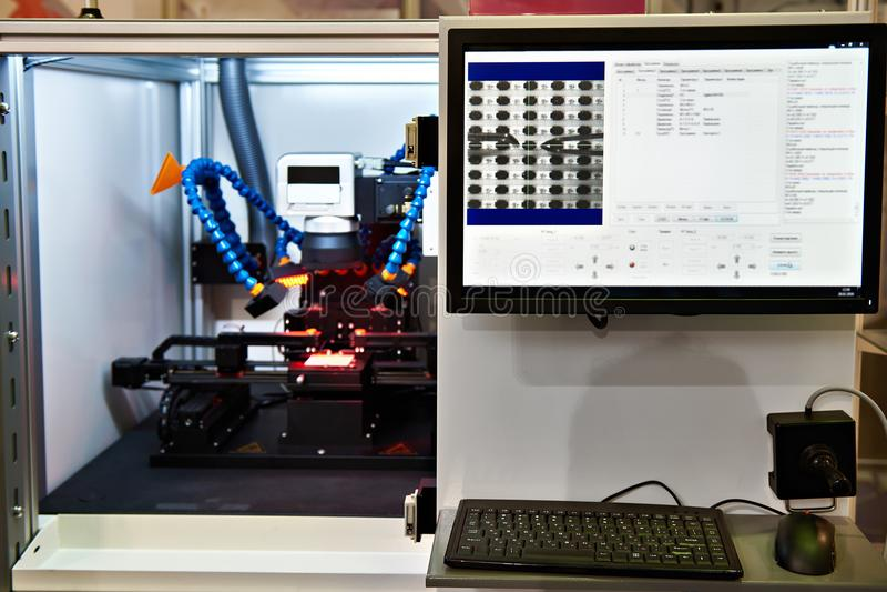 电阻器激光配件的复合体  图库摄影