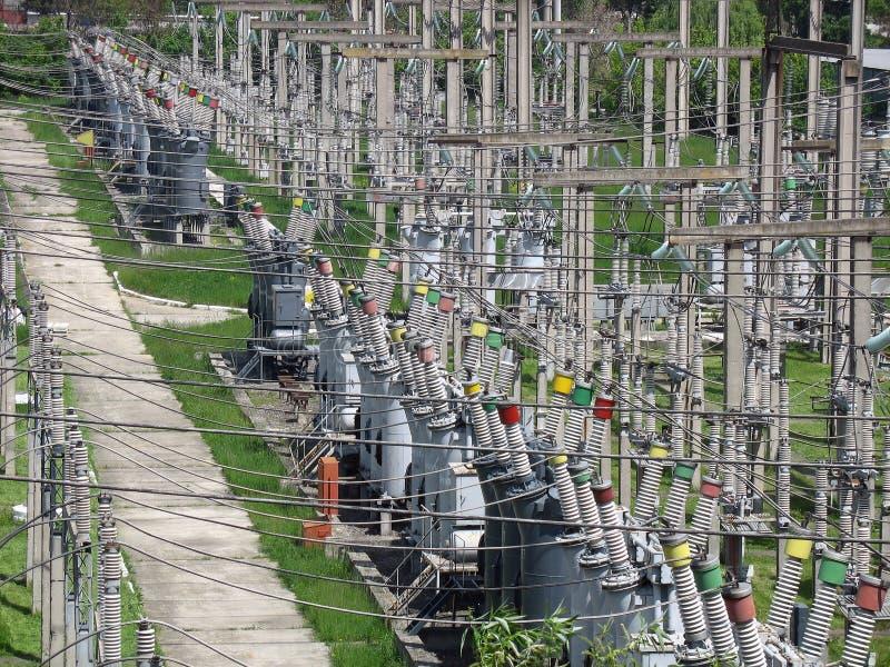 电高变压器电压 库存照片
