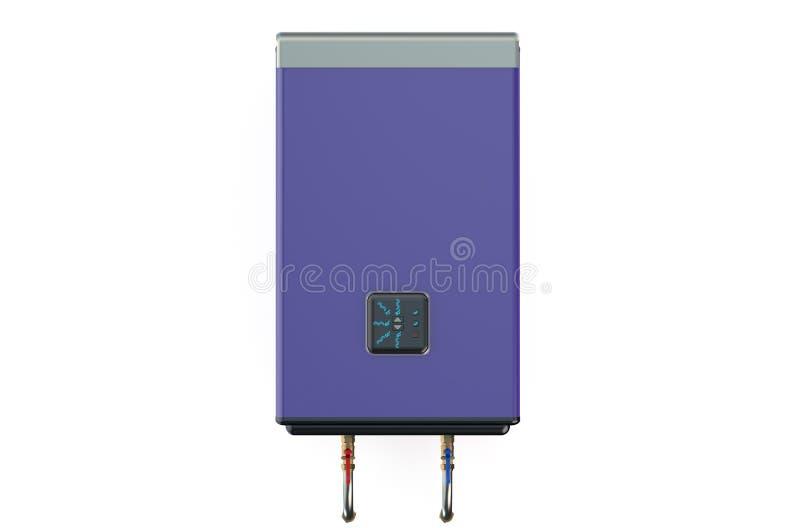 电紫色水加热器或锅炉 向量例证