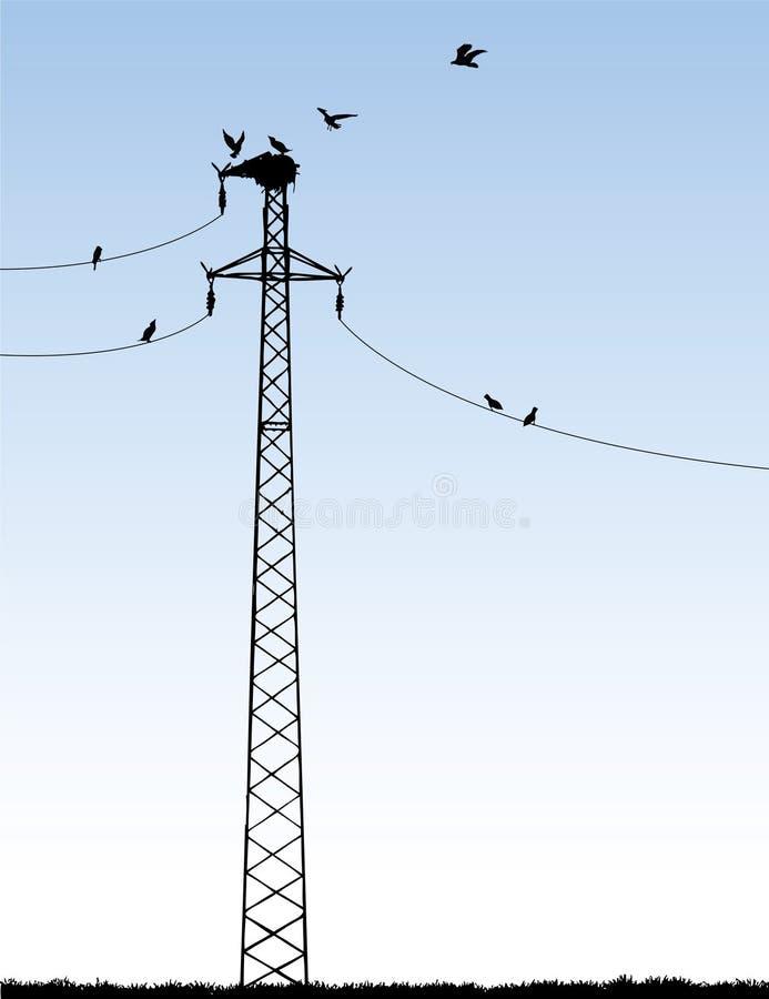 电 向量例证