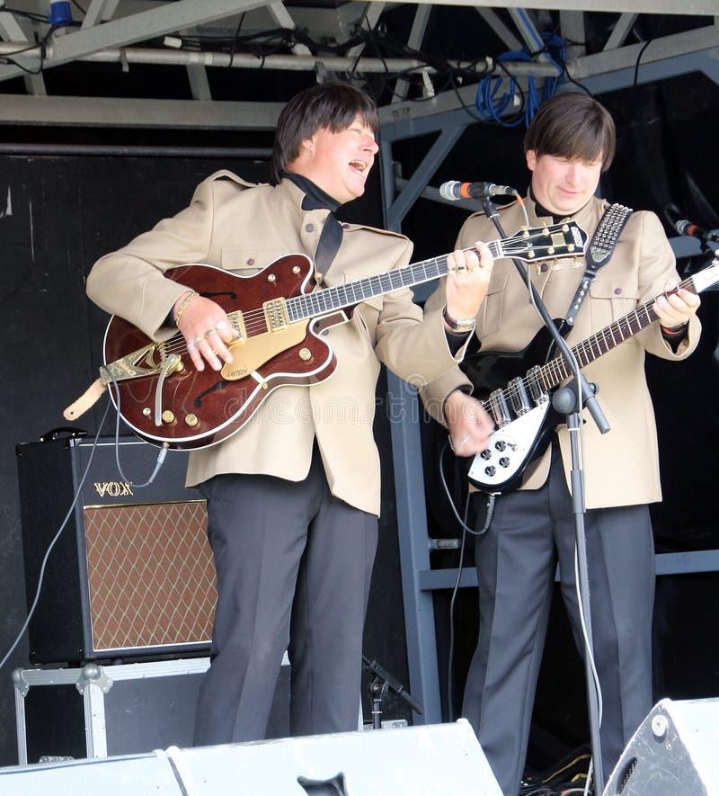 电Beatles流行音乐音乐会 免版税库存图片