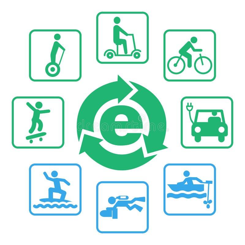 电eco驾驶象集合 皇族释放例证