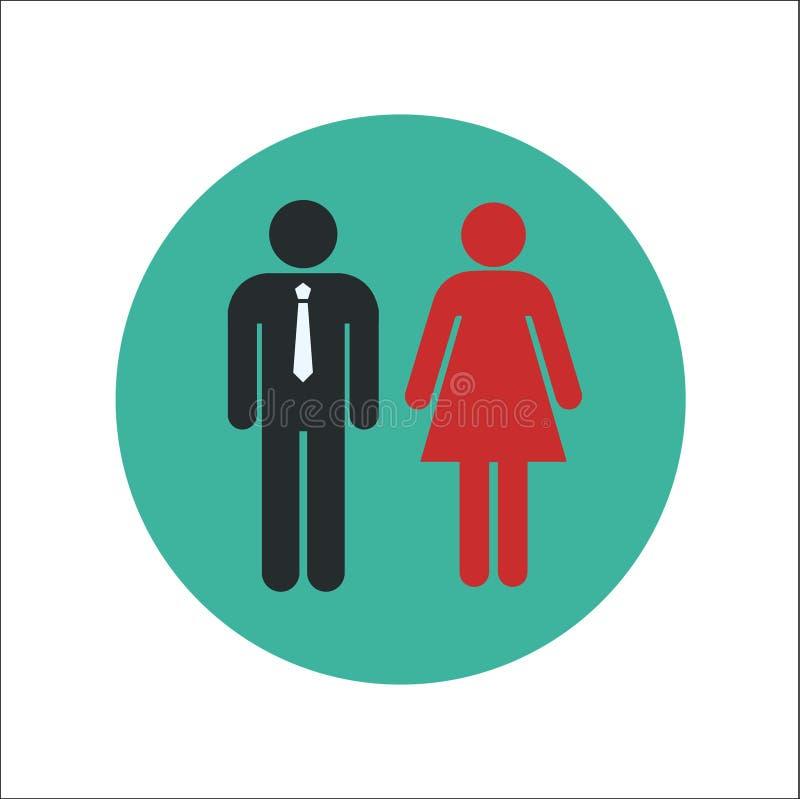 男人和妇女平的象传染媒介 向量例证