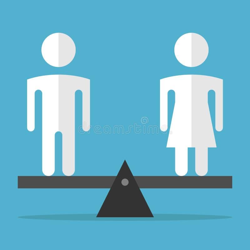 男人和妇女平衡 库存例证
