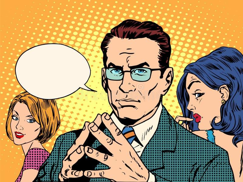 男人和妇女心理学  向量例证