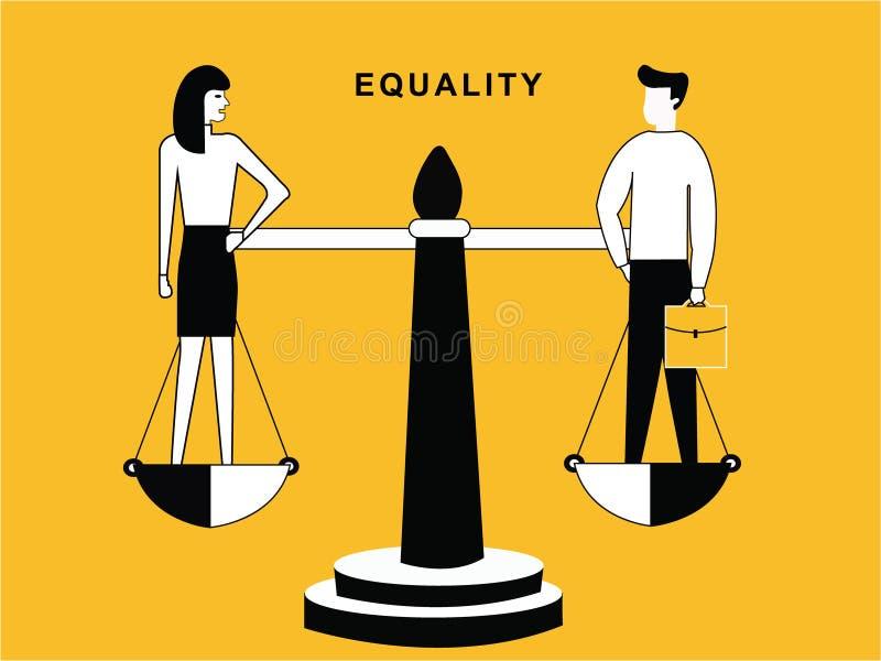 男人和妇女总之 向量例证