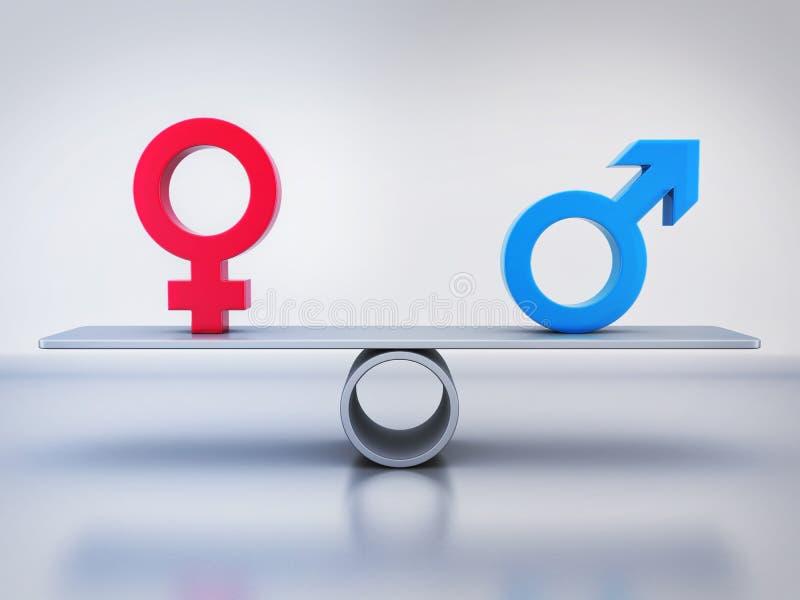 男人和妇女的抽象平等 库存例证