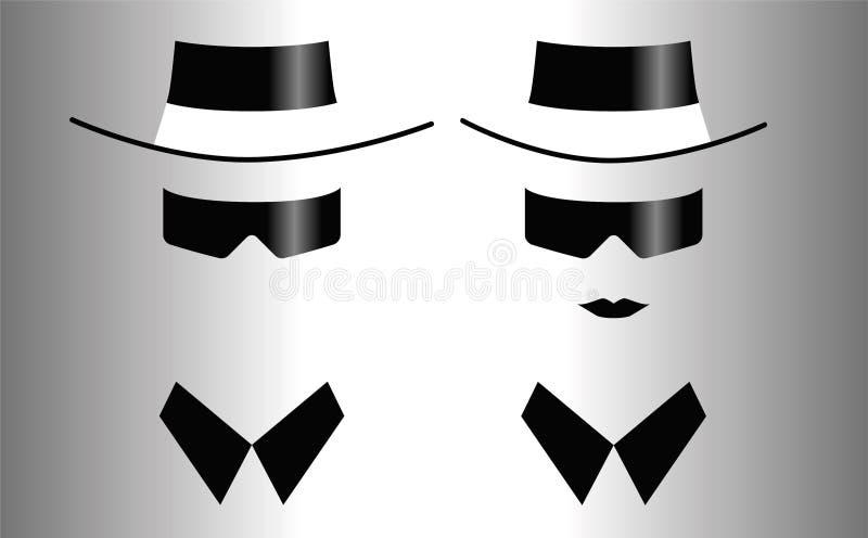 男人和妇女象太阳镜的 免版税库存图片