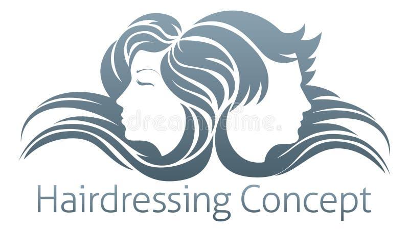 男人和妇女头发概念 皇族释放例证