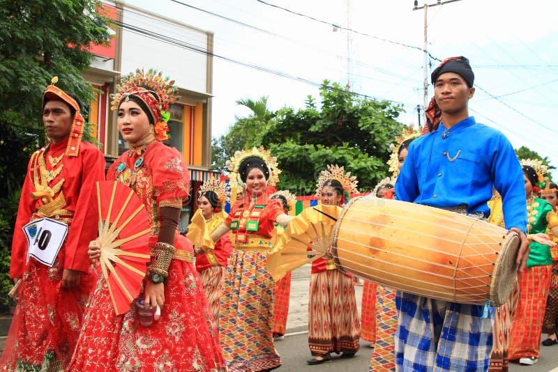 男人和妇女从苏拉威西岛Selatan 免版税库存图片