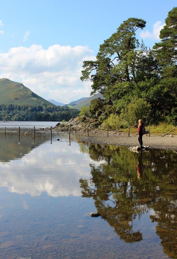 男修道士碎片,德文特湖,英国湖区 免版税库存图片