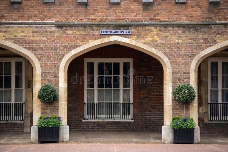 男修道院法院大厦,伦敦,英国 免版税图库摄影