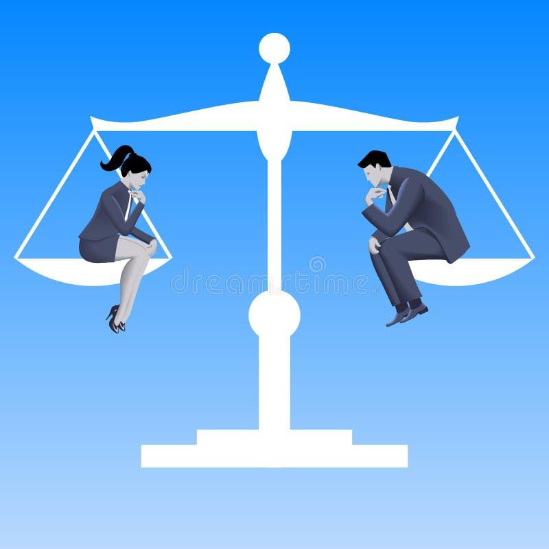 男女平等企业概念 皇族释放例证