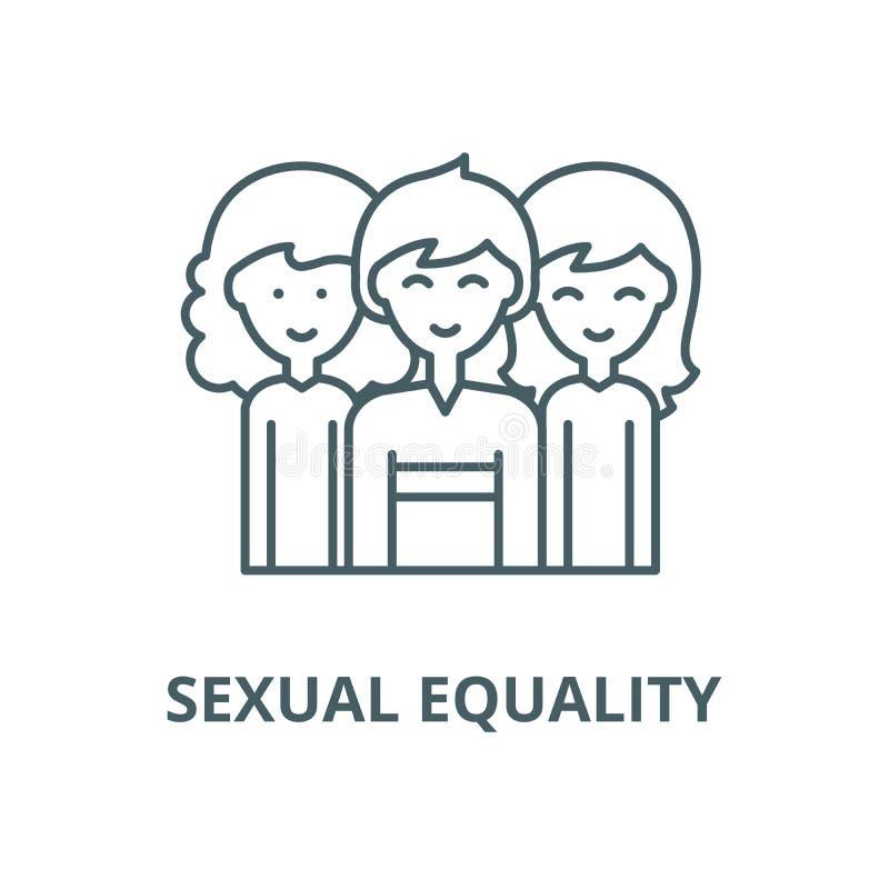 男女平等传染媒介线象,线性概念,概述标志,标志 皇族释放例证