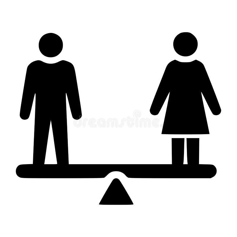 男女平等标志 向量例证